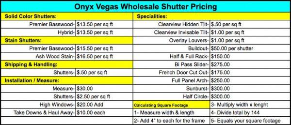 SH Pricing